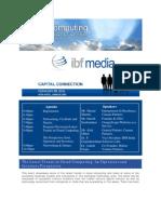 IBF Media - Cloud Computing Event Bangalore