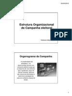 Estrutura Organizacional de Campanha Eleitoral