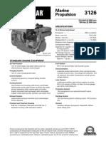 Spec Sheets - Cat 3126 Propulsion