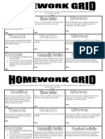 Homework Grid example