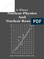 Nuclear Physics and Nuclear Reactors – Klimov