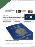 Lista_ Os 10 Passaportes Mais Poderosos Do Mundo