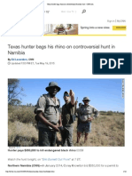 Texas Hunter Bags Rhino on Controversial Namibia Hunt - CNN