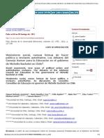 Polis (Santiago) - Movimiento Social, Nuevas Formas de Hacer Política y Enclaves Autoritarios_ Los Debates Del Consejo Asesor Para La Educación en El Gobierno de Michelle Bachelet en Chile