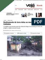Deslizamento de Terra Deixa Ao Menos 58 Mortos Na Colômbia