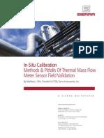 In-situ Calibration of Thermal Mass Flowmeters Sierra Instruments
