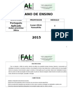 Plano de Ensino Potuguês Aplicado