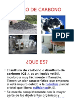 Sulfuro de Carbono