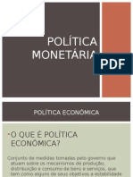 01 - Política Monetária - Apresentação