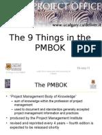 9 Things in the PMBOK LDP