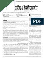 PPP Study AAS a Bajas Dosis en Prevencion de Eventos CV en Pac DM2