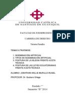 Inseminación Artificial en el Ecuador (Breve análisis ) FREE