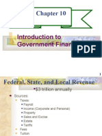 CHAPTER 10- INTRODUCTION TO GOVERNMENT FINANCE