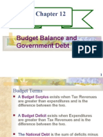 CHAPTER 12- BUDGET BALANCE AND GOVERNMENT DEBT