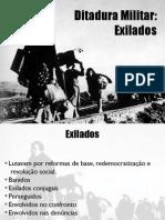 O exilio na ditadura militar