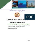 Publicacion Entregas de Canon Petrolero 2010