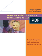Marketing Político Eleitoral e Planejamento de Campanhas