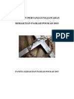 Laporan Pertanggungjawaban (LPJ) Panitia Paskah POUKAD 2015