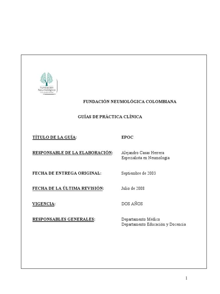 Gpc tromboembolismo pulmonar