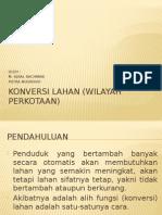 Konversi Lahan Wilayah Perkotaan