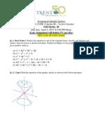 Assignment 2120H Quadric Surface