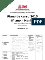 plano de curso de matematica 8° ano 2015