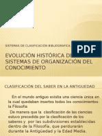 Evolución Histórica de Los Sistemas de Organización Del