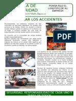 Obsequio-colgar Los Accidentes-charla Seguridad 5 Minutos