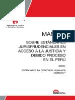 Manual sobre estándares jurisprudenciales en acceso a la justicia y debido proceso en el Perú