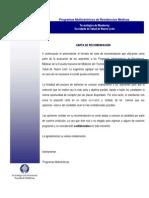 Formato Carta Recomendacion 2016