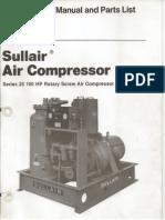 25- 100 Sullair Manual