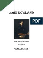 III Dowland Galliards