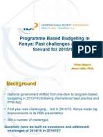 Kenya's 2015_16 Programme Based Budget and Challenges