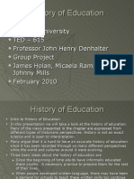 History of Education TED615 Group Project