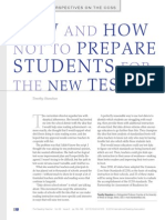 How and How Not to Prepare Students for the New Tests - Shanahan, T.
