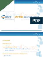SAP MM Course Content