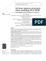 PLS SEM Modeling-An Emerging Tool in Business Research