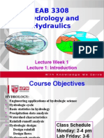 3308Lecture 1 - Introduction hydraulics and hydrology