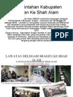 Pemerintahan Kabupaten Sragen Ke Shah Alam