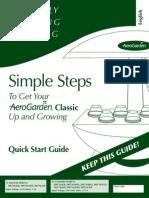 Aerogarden 7 Quickstart Guide