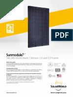 specification of solar