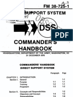 FM 38-725-1 1976 Direct Support System DSS, Commander's Handbook