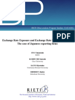 Exchange Rate Exposure and Exchange Rate Risk Management