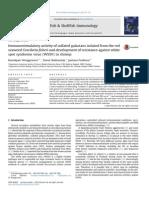 Fish & Shellfish Immunology Volume 36 Issue 1 2014 [Doi 10.1016_j.fsi.2013.10.010] Wongprasert, Kanokpan; Rudtanatip, Tawut; Praiboon, Jantana -- Immunostimulatory Activity of Sulfated Galactans Iso