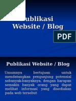 6. Publikasi Website