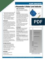 Standpipe Piezo Datasheet