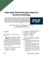 4000 Mtpd Ammonia Plant Paper