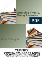 Studying Theory and Doing Research2
