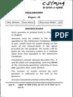 Philosophy II Mains 09