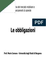Prof. Mario Comana - Le Obbligazioni